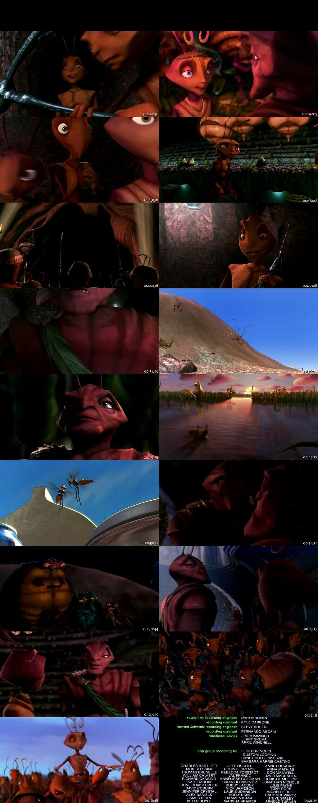 Screen Shot Of Antz 1998 English Movie Hindi Dubbed Free Download 100MB HEVC For Mobiles