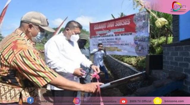 Wakil Bupati Malang Resmikan Tandon Air Minum Desa Permanu Pakisaji Malang
