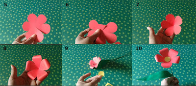Tutorial Bunga dari Kertas untuk Kerajinan SD 2