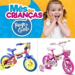 Promoção Pingo de Gente Dia das Crianças 2019 - 1 Bicicleta de Menino e 1 de Menina