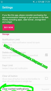 Clear cached notifications