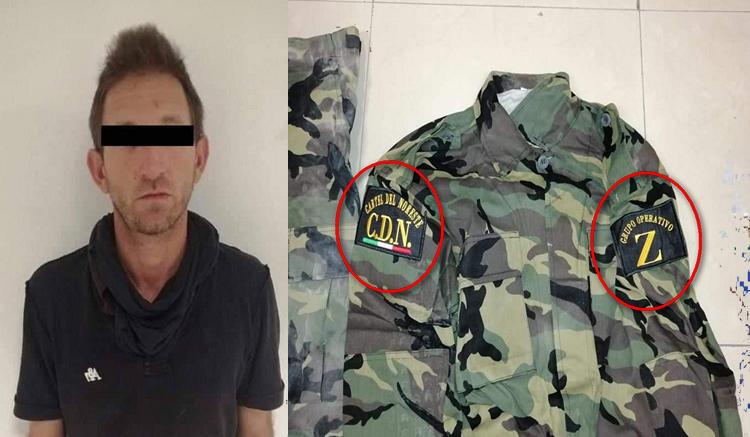 """Policías Estatales deja en calcetines a Sicarios del CDN, les decomisan uniformes con insignias CDN y """"Grupo Operativo Z"""" en Nuevo Leon"""