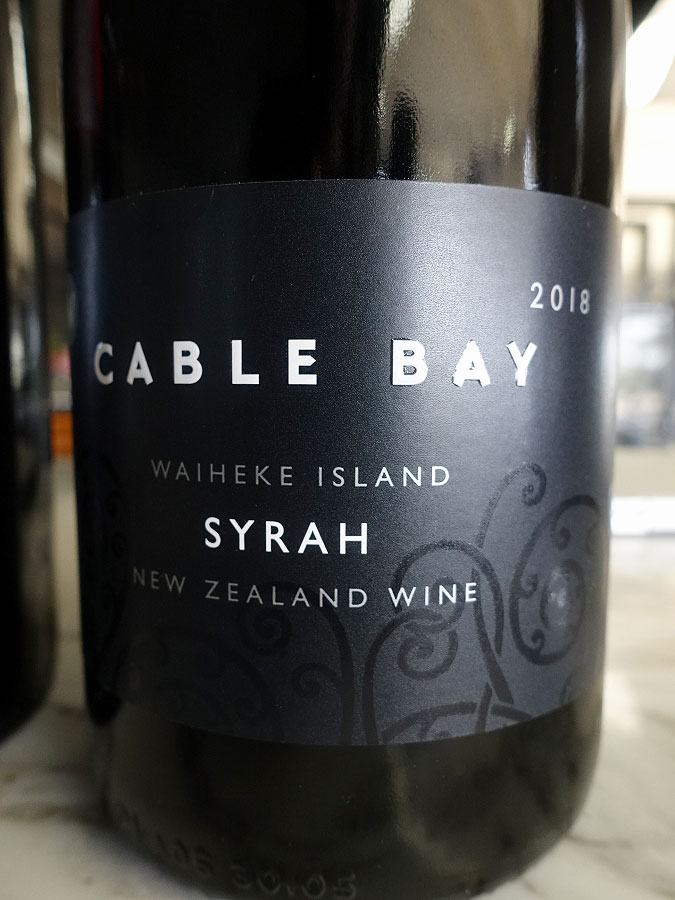 Cable Bay Syrah 2018 (91 pts)