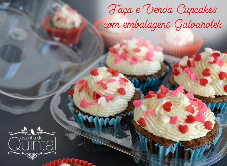 Faça e Venda Cupcakes com as embalagens Galvanotek na Cozinha do Quintal