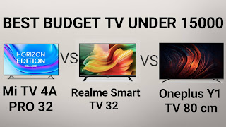 Realme Tv Vs MI Tv 4a Pro Vs Oneplus Tv Y1 Comparison Under 15000 Best Smart tv