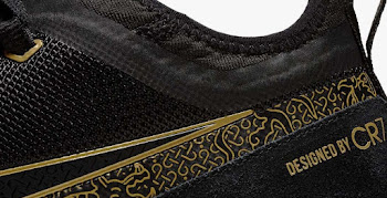 9b3d055c7c4bd Black   Gold Nike React FC Cristiano Ronaldo Shoes Revealed