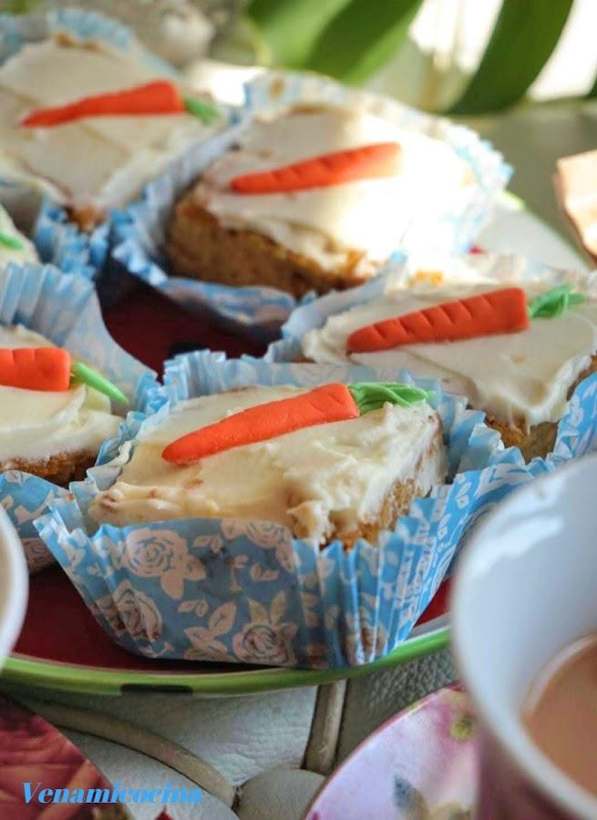 Pastelitos de zanahoria gluten free