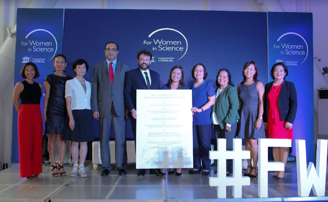 Public and private sector leaders had pledged to empowering more women in Sciences during the L'Oréal-UNESCO For Women In Science Ceremony last June 5, 2018 held at the Century City Mall, Makati.