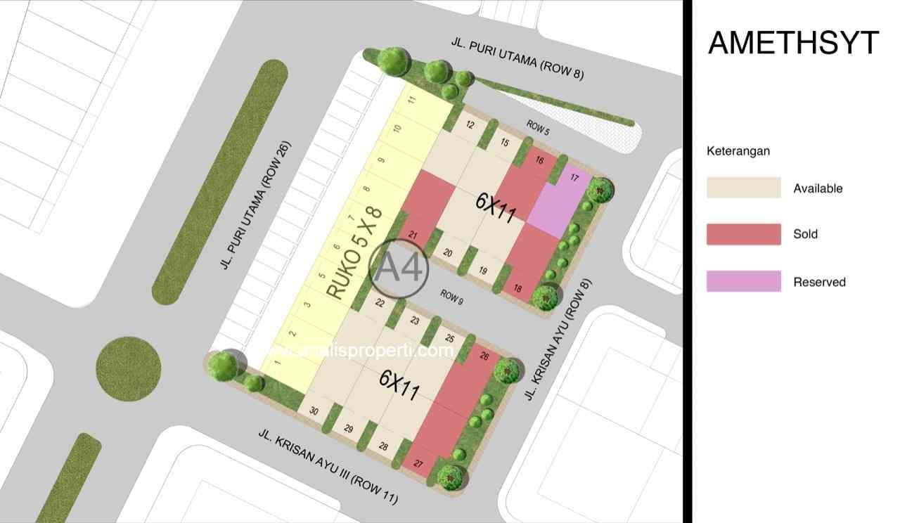 Siteplan Amethyst Metland Puri