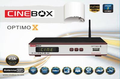 CINEBOX OPTIMO X HD NOVA ATUALIZAÇÃO - SKS 22W - 28/10/2016