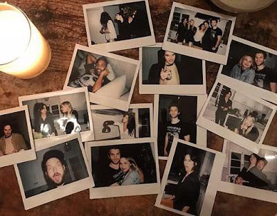 Polaroid photos of PLL reunion 2018, Troian Bellisario, Ashley Benson, Shay Mitchell, Tyler Blackburn, Keegan Allen