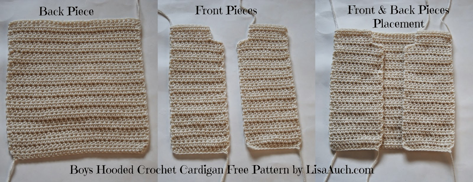 free crochet pattern boys hooded cardigan