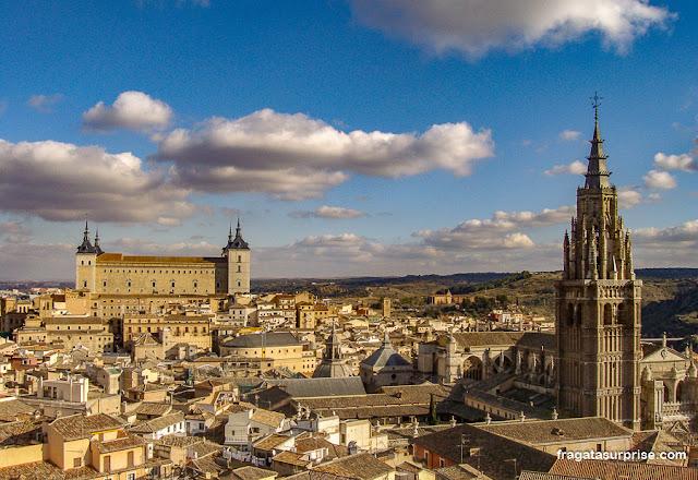 Toledo, Espanha, vista da torre da Igreja dos Jesuítas