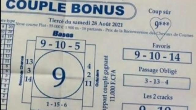 Pronostics quinté pmu samedi Paris-Turf-100 % 28/08/2021