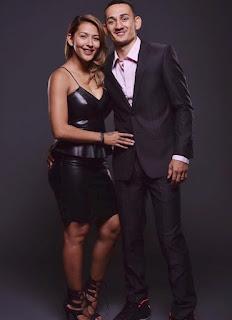 Kaimana Paaluhi with her ex-husband Max Holloway