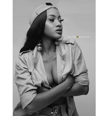 Lady who flashed nipples in NYSC crested vest, releases more sexy photos in NYSC khaki