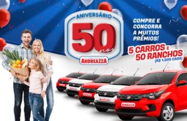 Aniversário 50 Anos Andreazza Supermercados Promoção 2021