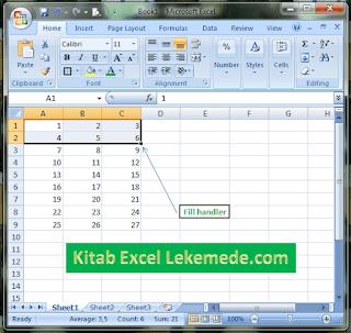 Belajar Excel Cara Membuat Nomer Urut Seri Menyamping dan Menurun