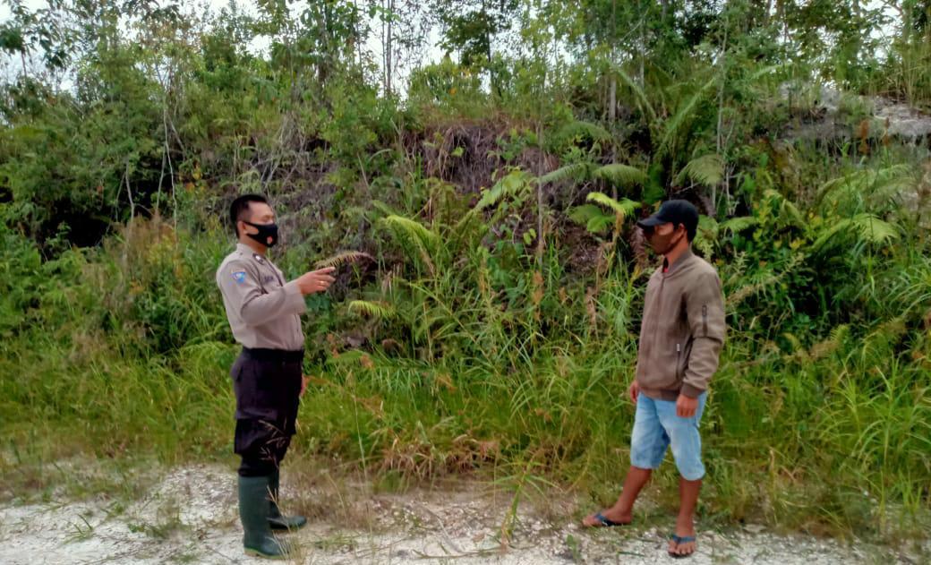 Kapolsek Dusteng,pimpin Pencarian Titik Hotspot Diwilayah Desa Netampin Kec.dusun Tengah