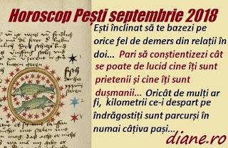 Horoscop Pești septembrie 2018