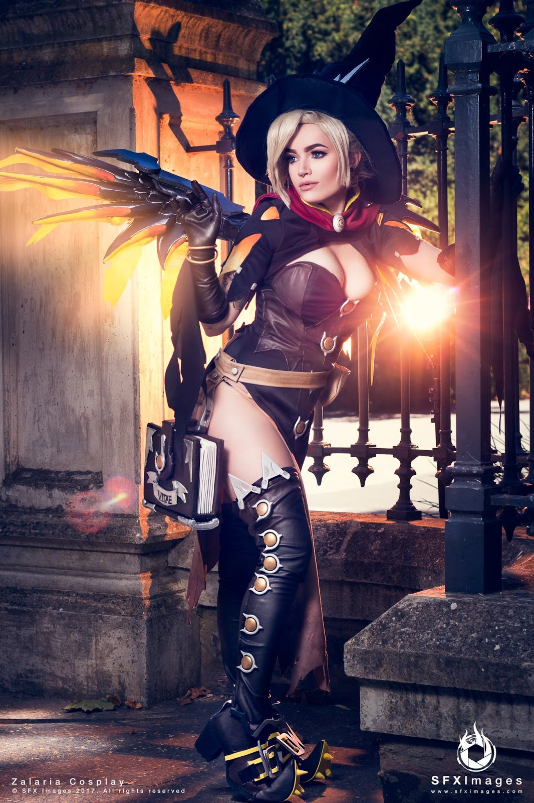 Elarte Cosplay Overwatch Witch Mercy Cosplay