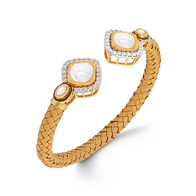 Polki Diamond Bracelet by Velvetcase.com