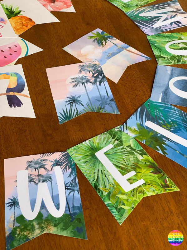 TROPICAL COAST Classroom Bunting Pack | you clever monkey