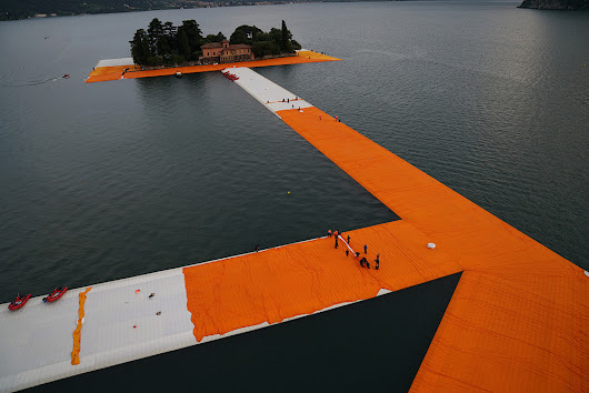 Christo, The Floating Piers, Lago d'Iseo, Italy