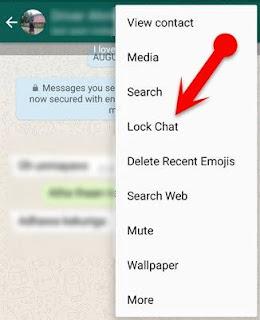 cara megunci aplikasi whatsapp untuk chat tertentu