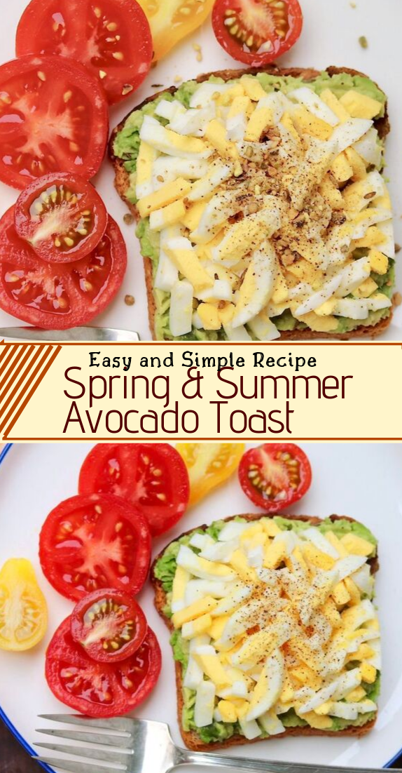 Spring & Summer Avocado Toast #healthyfood #dietketo #breakfast #food