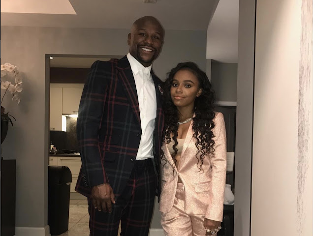 Floyd Mayweather Jr. And Daughter Iyana Mayweather