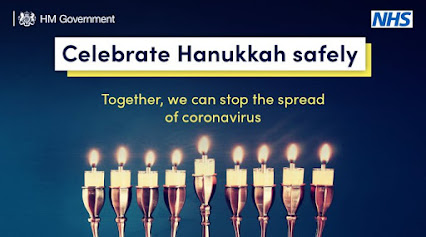 Celebrate hanukkah safely uk advice with menorah image