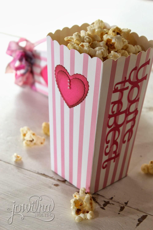 Cricut Craft Room Basics  Valentine Popcorn boxes  imagine the possibilities