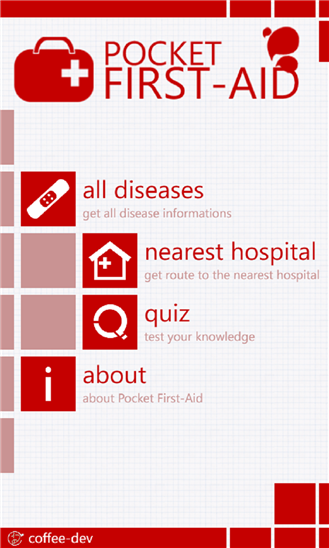 Pocket First Aid for Windows Phone 8