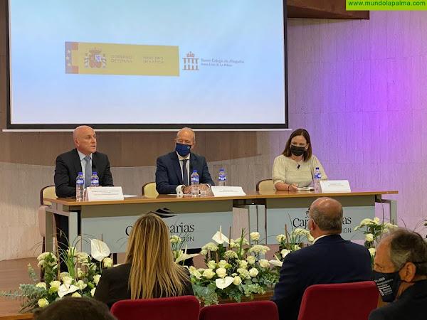 El Colegio de Abogados de Santa Cruz de La Palma celebra un encuentro con el Ministro de Justicia