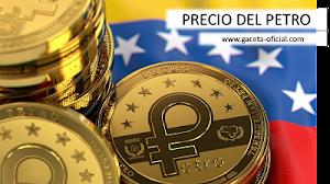 """Precio del petro este Miércoles 13/01/2020 - """"Gaceta Oficial Precio del Petro"""""""
