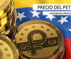 """Precio del petro este Lunes 03/05/2021 - """"Gaceta Oficial Precio del Petro"""""""