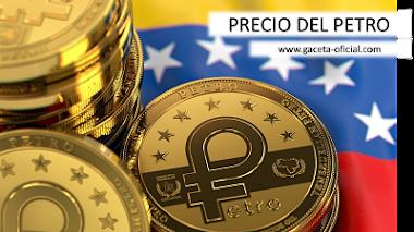 """Precio del petro este Miércoles 05/05/2021 - """"Gaceta Oficial Precio del Petro"""""""