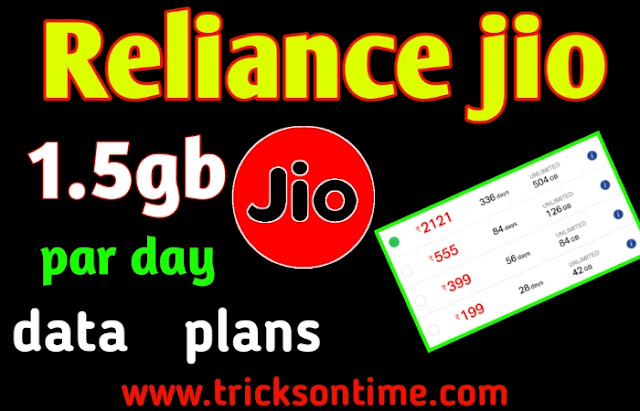 reliance jio recharge, jio latest unlimited data plans