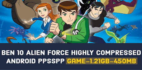 Ben 10 Alien Force Vilgax Attacks Highly Compressed ppsspp 100mb
