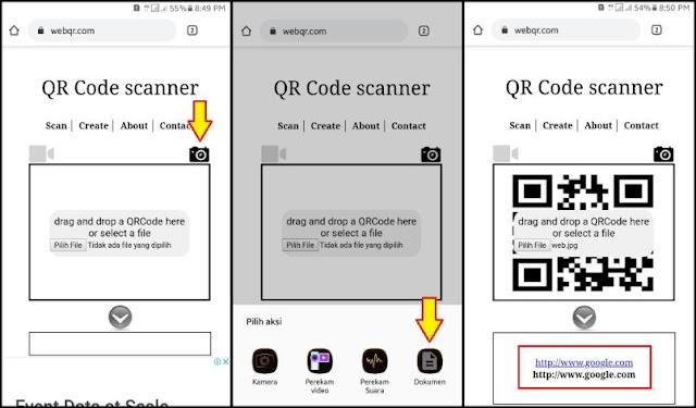 Cara Scan Barcode di HP 3