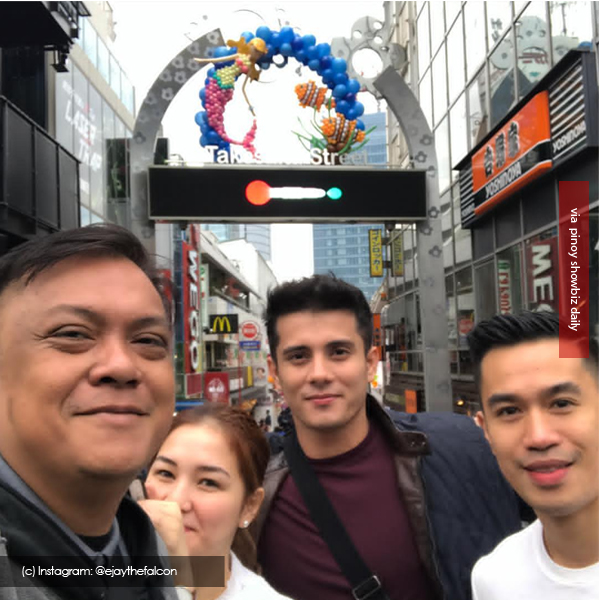 Ejay Falcon and Jana Roxas in Japan