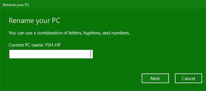 تغيير اسم الكمبيوتر من اعدادات ويندوز ١٠