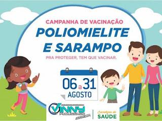 Vacinação contra Poliomielite e Sarampo