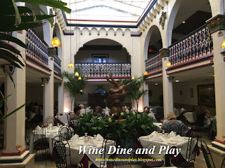 The main banquet dining room at the Columbia Restaurant in Tampa, Florida