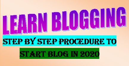 Step by Step Procedure to start blog in 2020. A path to make money online. , letsupdate, learn blogging-2020, home page for blogs