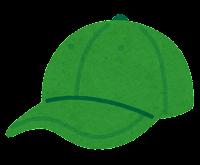 野球帽のイラスト(緑)