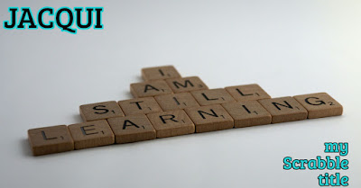 Scrabble letter tiles saying: I am still learning