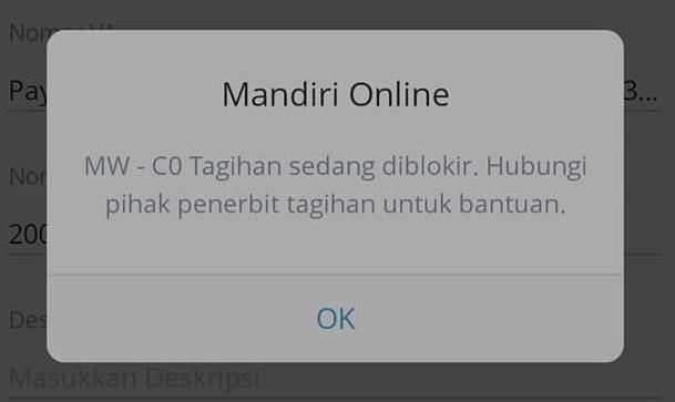 3 Solusi Tagihan Sedang Diblokir di Mandiri Online