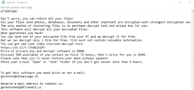 Helpmanager@mail.ch (Ransomware)
